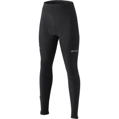 Shimano Clothing Women's Winter Tights, Black, Size S