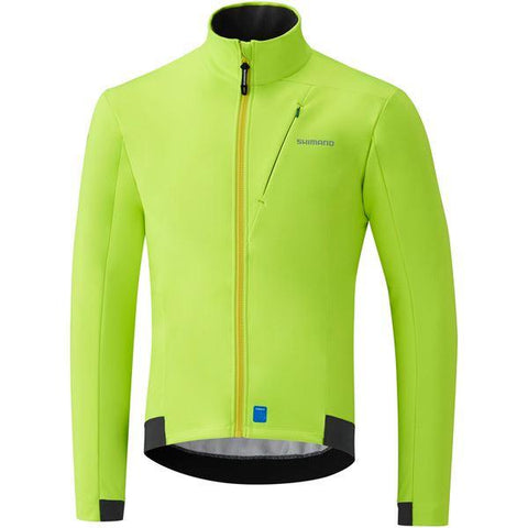 Shimano Clothing Men's Wind Jacket, Neon Yellow, Size L