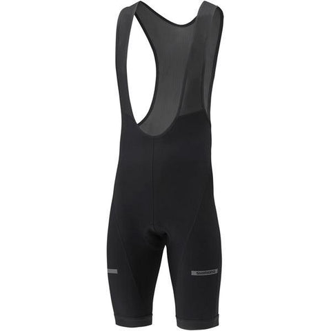 Shimano Clothing Men's Thermal Winter Bib Shorts, Black, Size L
