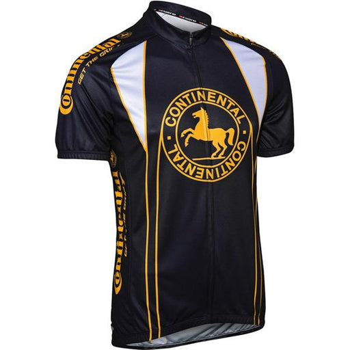Continental Cycle Jersey - Black / Yellow Small