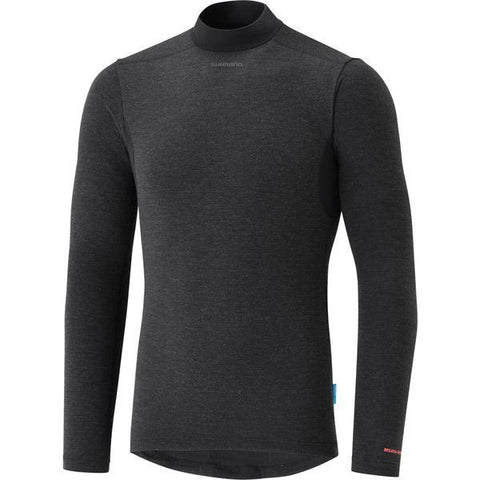 Shimano Clothing Men's Breath Hyper Baselayer, Black, Size L