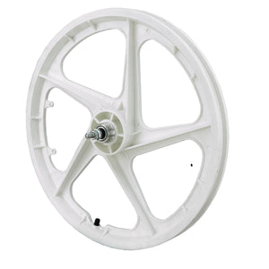 "20"" Rear Aero 5 ""WHITE"" BMX 5 Spoke Mag Nylon wheel in ""WHITE"" Aero 20B"