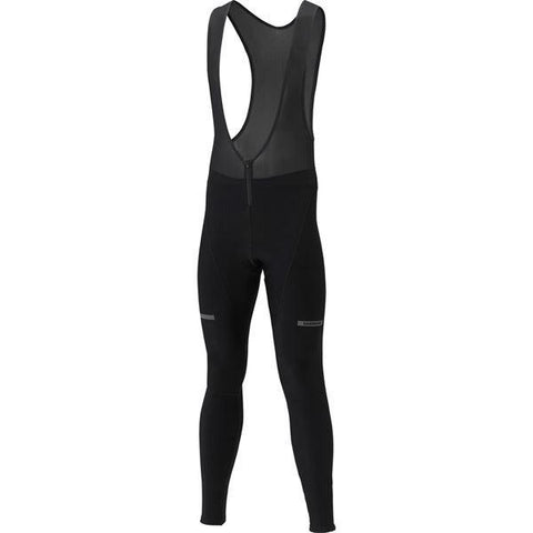 Shimano Clothing Men's Winter Bib Tights, Black, Size S