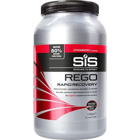 Science In Sport REGO Rapid Recovery drink powder - 1.6 kg tub - strawberry