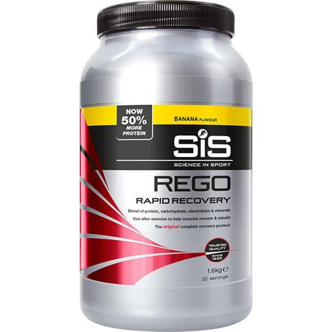 Science In Sport REGO Rapid Recovery drink powder - 1.6 kg tub - banana