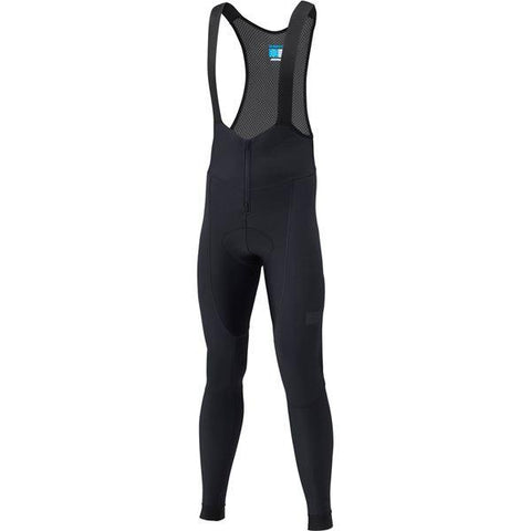 Shimano Clothing Men's Evolve Wind Bib Tights, Black, Size L