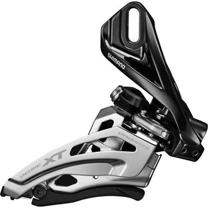 Shimano Deore XT M8020-L double front derailleur, low clamp, side swing, front pull