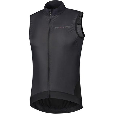 Shimano Clothing Men's S-PHYRE Wind Gilet, Black, Size M