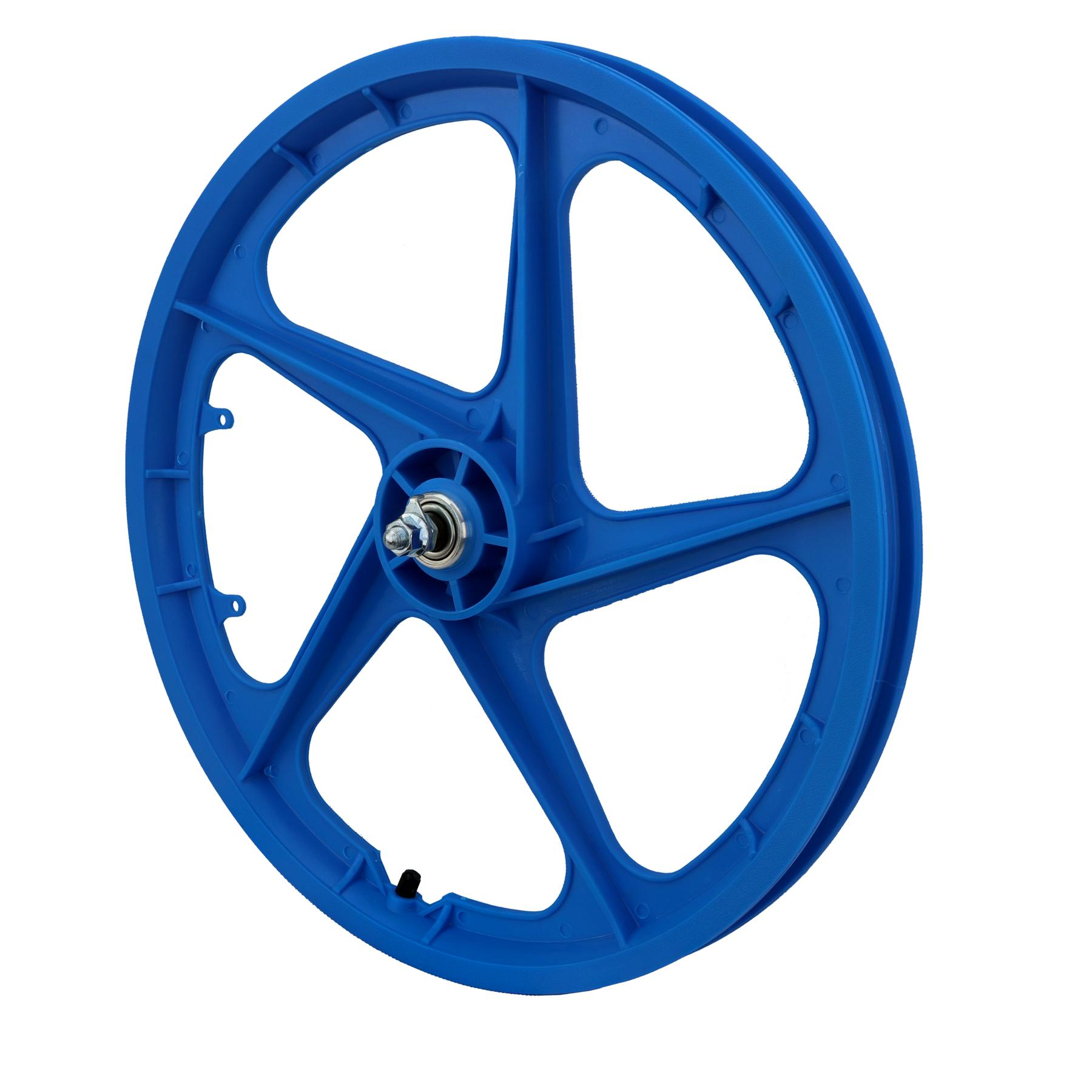 "20"" Front Aero 5 ""BLUE"" BMX 5 Spoke Mag Nylon wheel Aero 5 20B"
