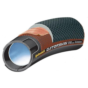 "Continental Sprinter GatorSkin 28"" x 22mm Black / DuraSkin Tubular Tyre"