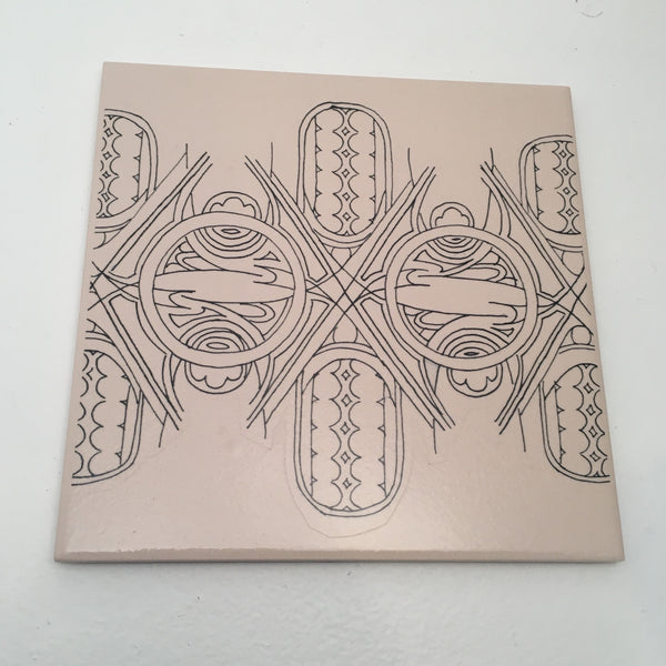 Trivet with Free Hand Design (5)