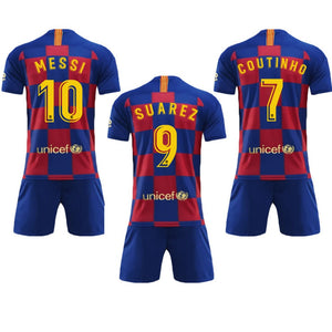 9caa63c4ca5 2019 2020 Barcelona Home Plaza Tracksuit New Barcelona 10 Messi Sports  Clothing Suit Men Shirt And