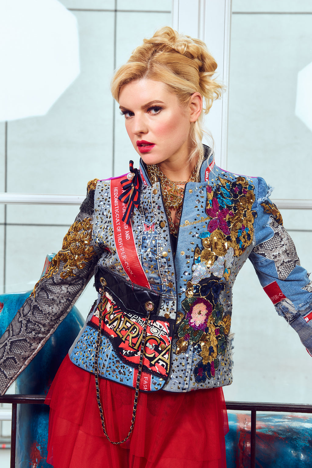 PIA BOLTE®Jeans Jacket Pop Art - PIA BOLTE® COUTURE