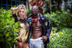 PIA BOLTE® Miami swimsuit golden FLASH