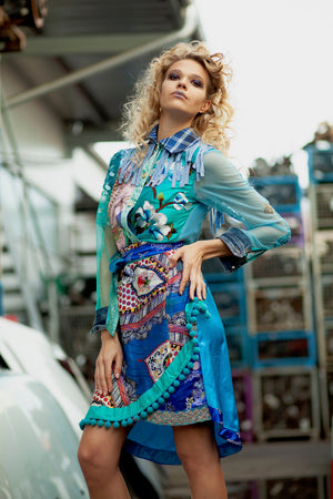 PIA BOLTE® Ocean Blue Dress