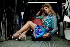 PIA BOLTE® Ocean Blue Dress - PIA BOLTE® COUTURE