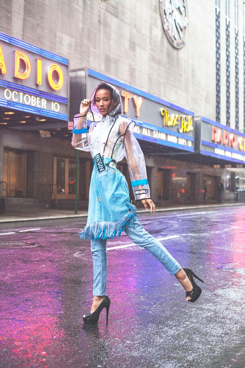 PIA BOLTE® Dress New York Rainy Day