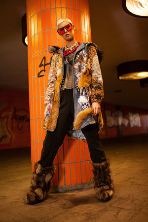 PIA BOLTE® fur COAT A-STAR - PIA BOLTE® COUTURE