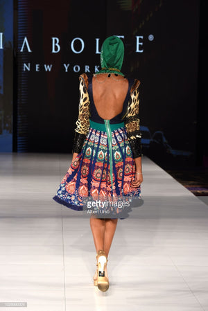 PIA BOLTE® Dress New York FLOWER GREEN - PIA BOLTE® COUTURE