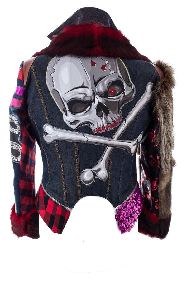 PIA BOLTE® NYC Winter red Skull - PIA BOLTE® COUTURE