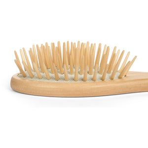 GranNaturals Detangling Wooden Bristle Hair Brush - Small, Travel Size