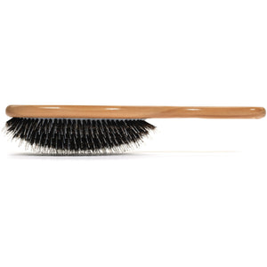 Boar Bristle Hair Brush -Porcupine Style - Mixed Bristle Natural Wooden Hairbrush for Thick Hair - For Women with Long, Thick Hair