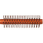 Nylon Bristle Round Styling Hair Brush - 1.5 Inch Diameter - Quiff Roll Circle Hairbrush with Natural Wooden Handle for Men and Women - Blow Dry, Style, and Curl Hair
