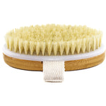 Hand Size Dry Brushing Body Brush - Face, Foot, Leg Exfoliator - Skin Tightening Cellulite Massager for Butt & Thighs - Natural Bristle Scrubber for Exfoliating Dead Skin & Lymphatic Drainage