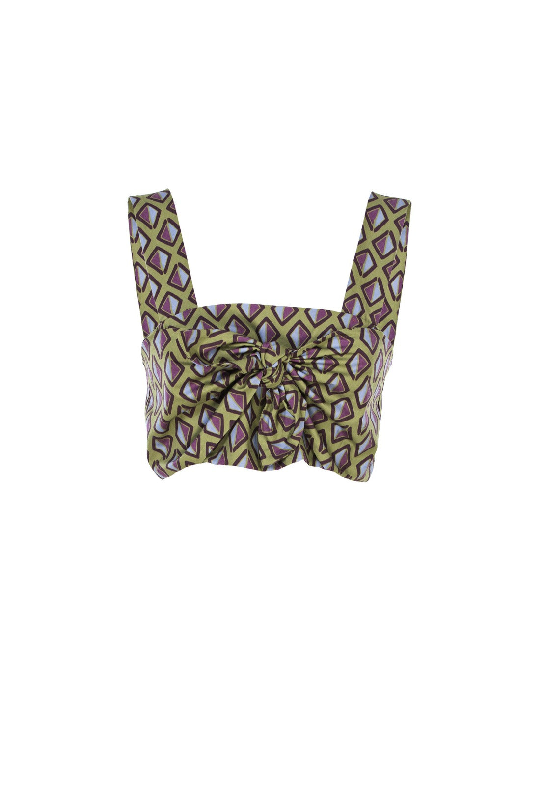 Crop top stampa afro