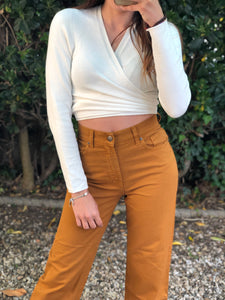 Denim cropped curcuma