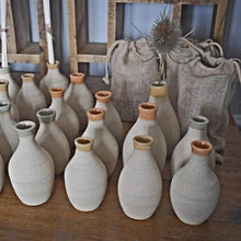 Load image into Gallery viewer, Bespoke, mid-century modernist, hand-made, natural, stoneware diffuser/ bud vases Joe and Anna Marketplace