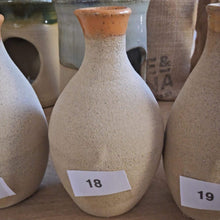 Load image into Gallery viewer, Bespoke, mid-century modernist, hand-made, natural, stoneware diffuser/ bud vases