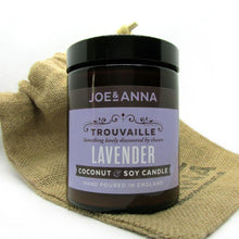 Load image into Gallery viewer, Lavender coconut & soy wax candle 180ml jar Joe and Anna Marketplace