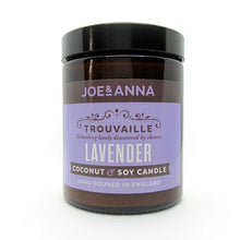 Load image into Gallery viewer, Lavender coconut & soy wax candle 180ml jar