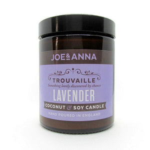 Lavender coconut & soy wax candle 180ml jar Joe and Anna Marketplace