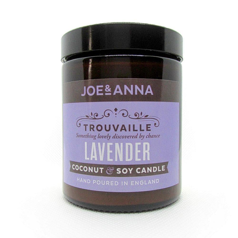 Lavender coconut & soy wax candle 180ml jar
