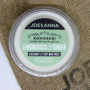 joe-and-anna-marketplace - Lemongrass & Ginger coconut & soy wax melt 40g - Joe and Anna Marketplace -