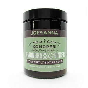 Lemongrass & Ginger coconut & soy wax candle 180ml jar