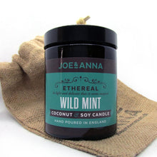 Load image into Gallery viewer, Wild Mint coconut & soy wax candle 180ml jar Joe and Anna Marketplace