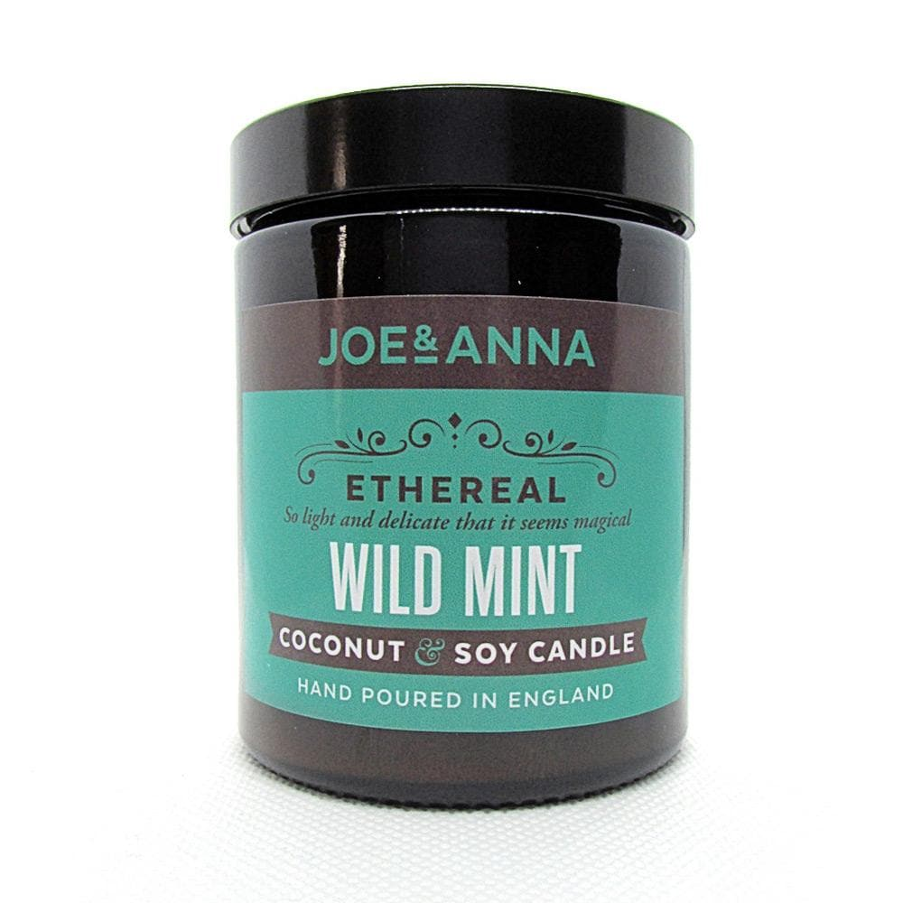 Wild Mint coconut & soy wax candle 180ml jar Joe and Anna Marketplace
