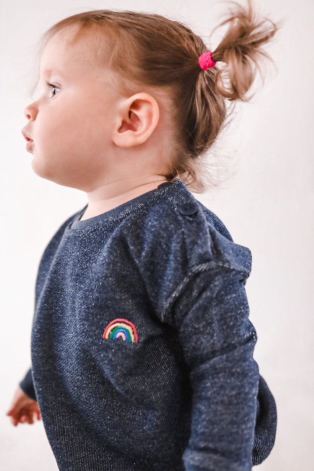 SUDADERA DENIM BEBE