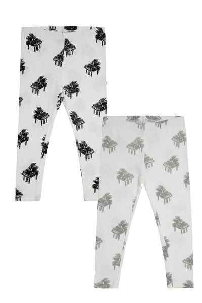 legging pianos negro + legging pianos gris