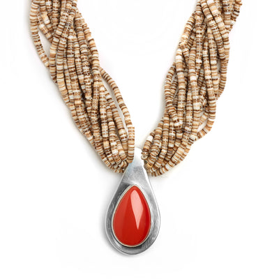 Ralph Sena Rosarita and Voluta Shell Necklace