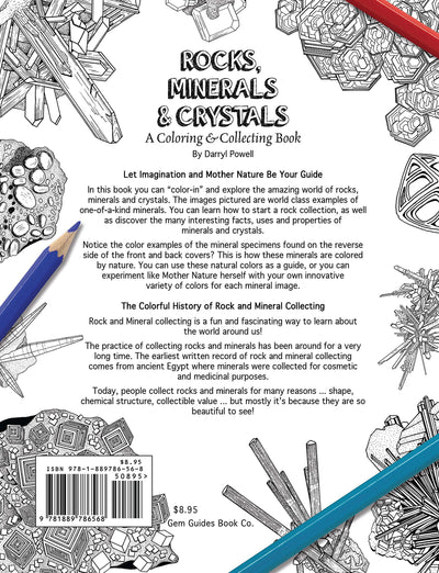 Rocks, Minerals & Crystals: A Coloring & Collecting Book