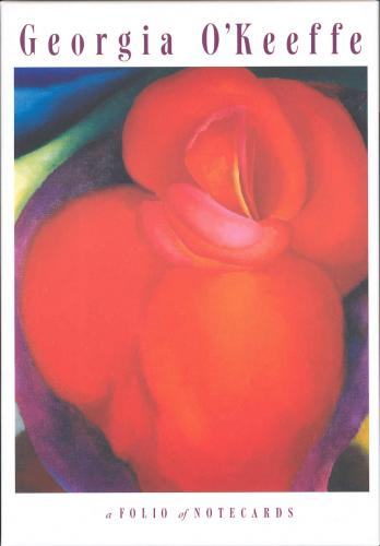Georgia O'Keeffe Note Card Folio - Red Flowers