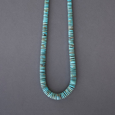 Joe Pacheco Turquoise Heishi Wafer Necklace