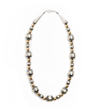 Lawrence Baca Gold Filled and Baca Bead Necklace