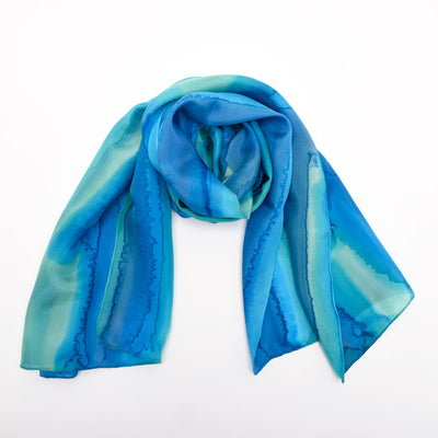 Melinne Owen Hand Painted Silk Scarf