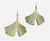Gingko Single Leaf Wire Earrings