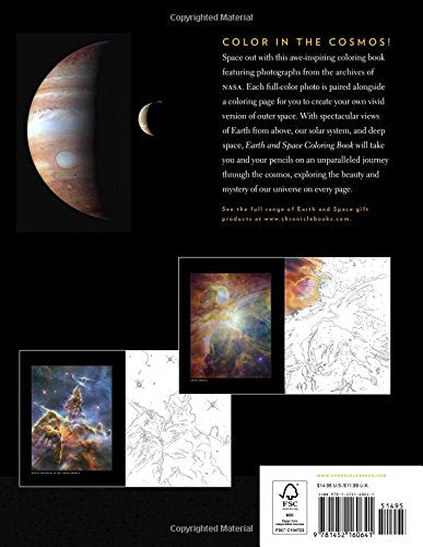Earth and Space Coloring Book: Featuring Photographs from the Archives of NASA